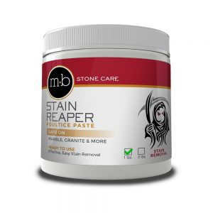 stain reaper removes granite stains and marble stains