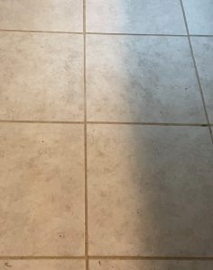 clean stained grout